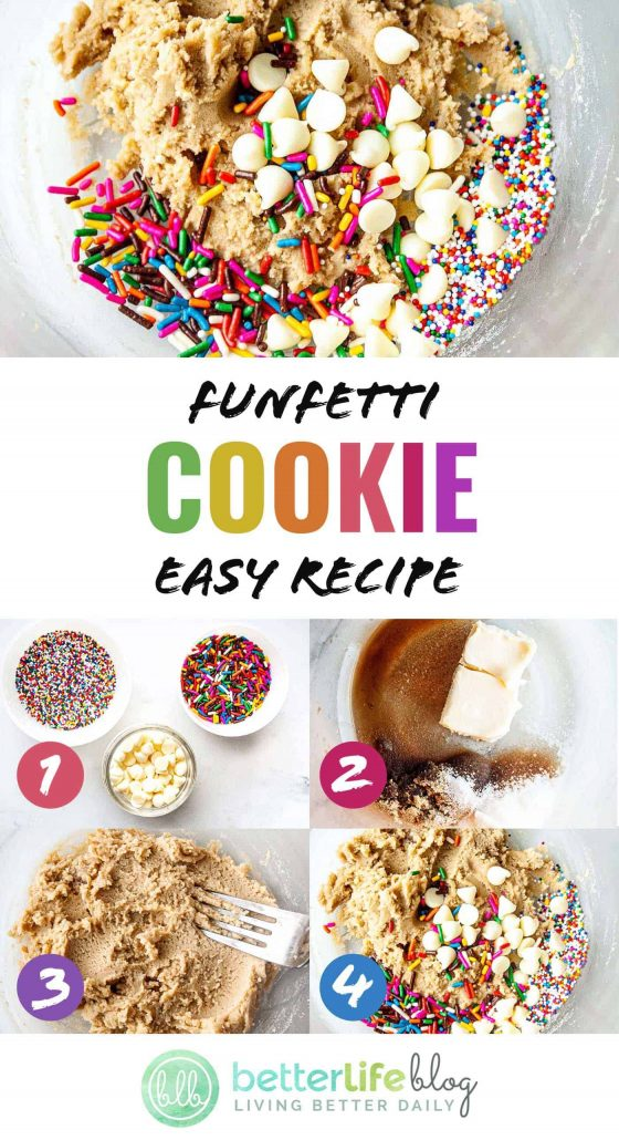 Funfetti Cookie Dough - this cookie dough recipe is ultra safe to eat by the spoonful. Plus, I'm showing you tips and tricks with ingredient additions to make unique flavors.
