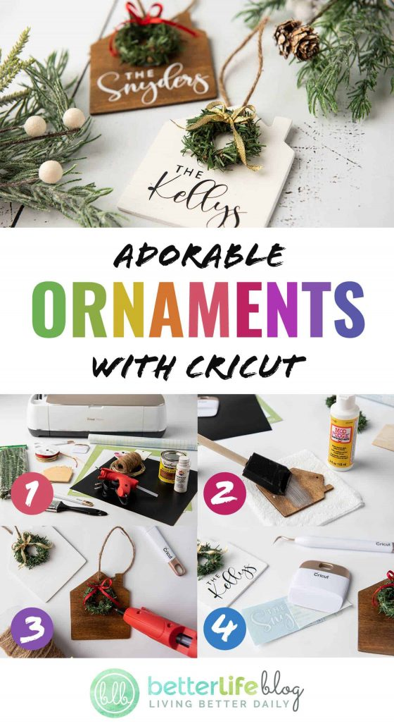 Adorable Ornaments with Cricut - the Cricut has done it again! This beautiful, personalized ornament is easy to put together and my tutorial will show you exactly how.
