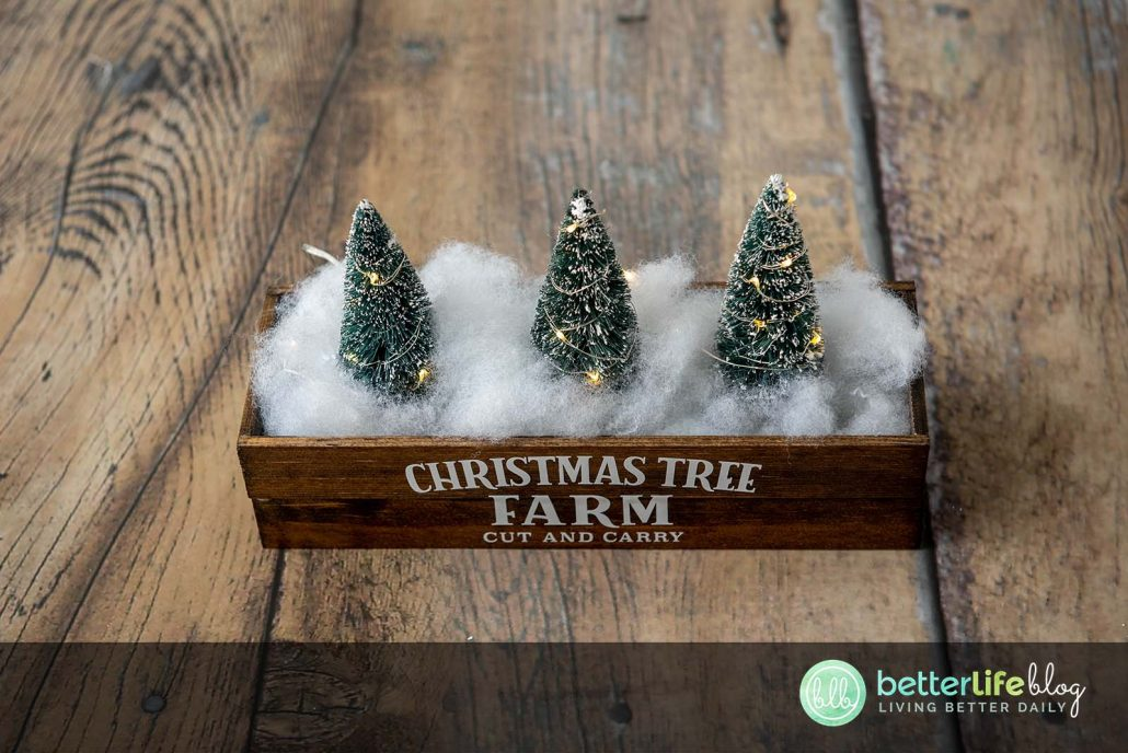 This Christmas Centerpiece is a really fun Cricut DIY! It uses permanent vinyl to give it its rustic look - a great way to add elegance to your seasonal décor.